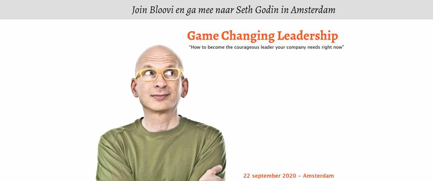Seth Godin live zien in Amsterdam?